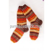 Purna Handmade Collection: Woolen Socks Tic Design